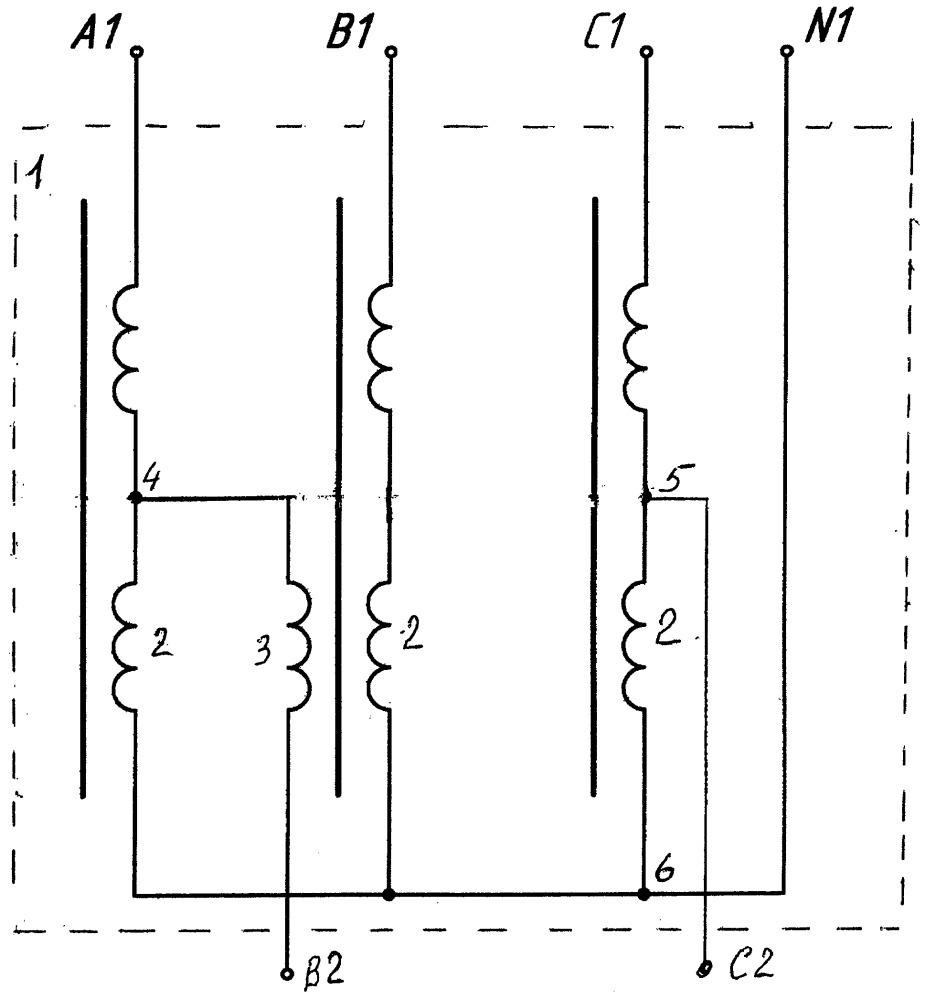 Устройство для равномерного распределения однофазной нагрузки по фазам трехфазной сети