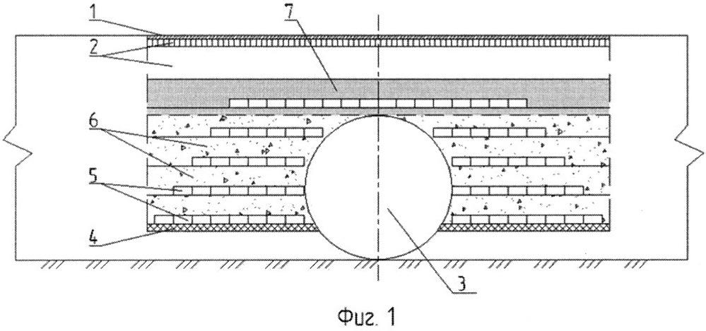 Способ укрепления земляного полотна автомобильных дорог в местах устройства водопропускных труб