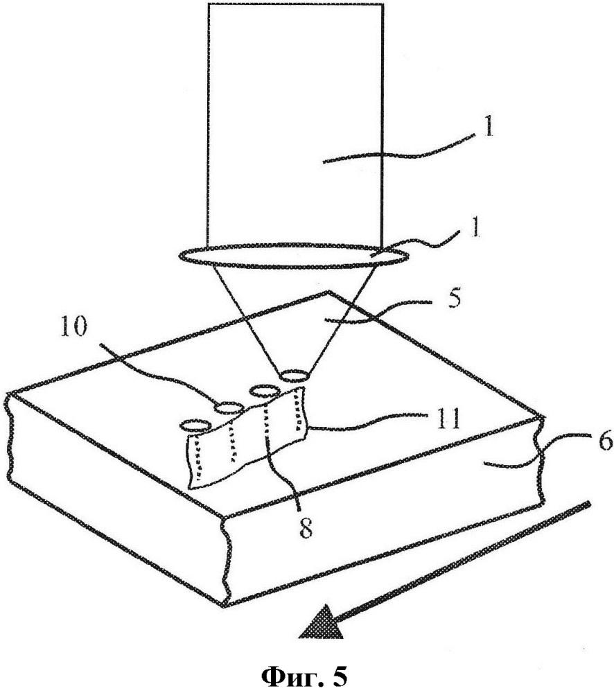 Способ лазерной обработки для разделения или скрайбирования подложки путем формирования клиновидных поврежденных структур