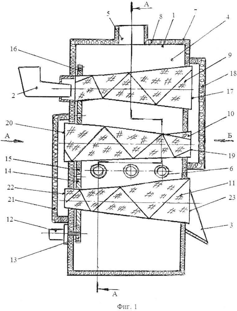 Агрегат для непрерывной сушки сыпучих материалов