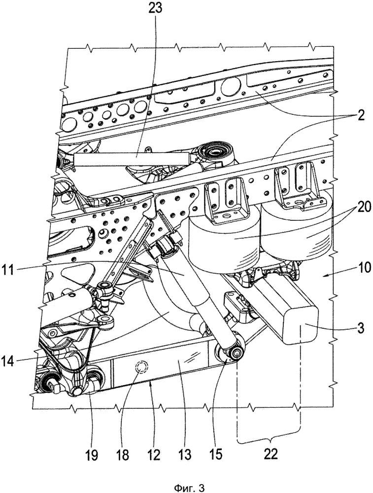 Система ходовой части безрельсового транспортного средства
