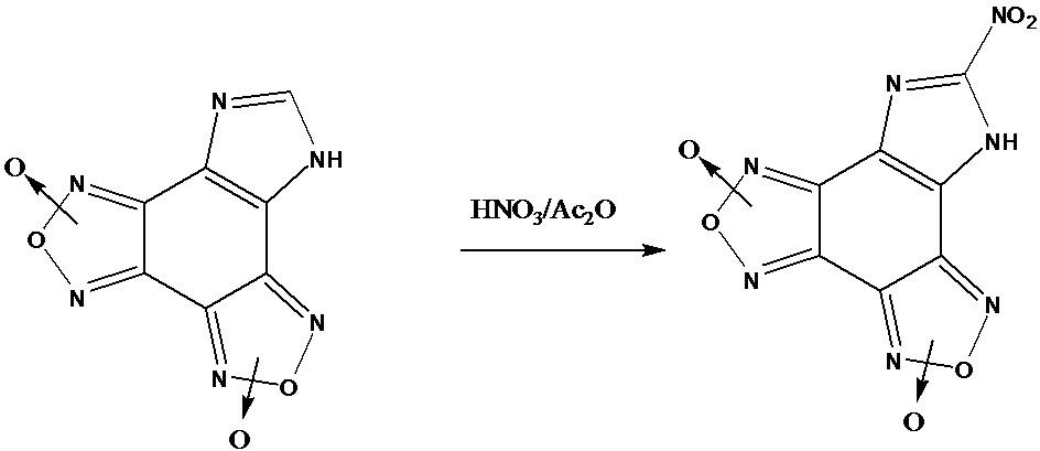 Способ получения c-нитроимидазо[4,5-e]бензо[1,2-c;3,4-c]дифуроксана