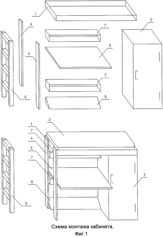 Способ организации места занятий и отдыха студента (кабинет)