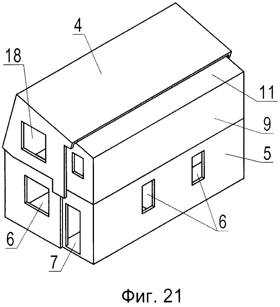 Транспортный контейнер, трансформируемый в двухэтажный дом