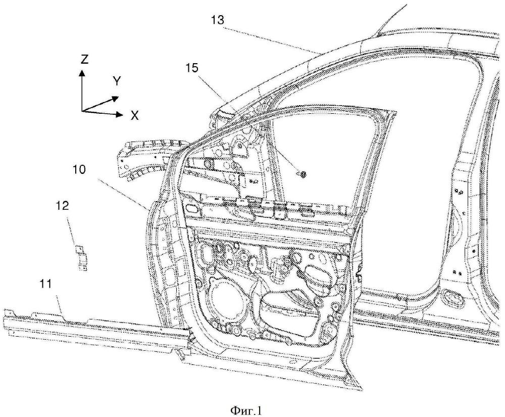 Конструкция двери, содержащая элемент для локального закрывания поперечного сечения усиливающего профильного элемента панели
