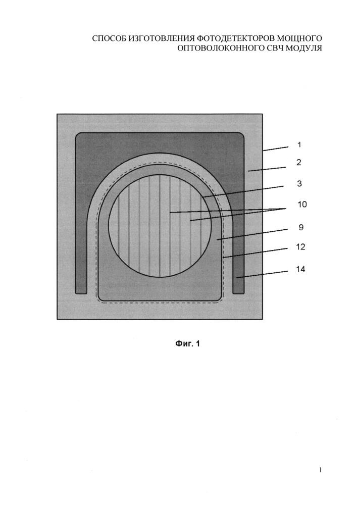 Способ изготовления фотодетекторов мощного оптоволоконного свч модуля