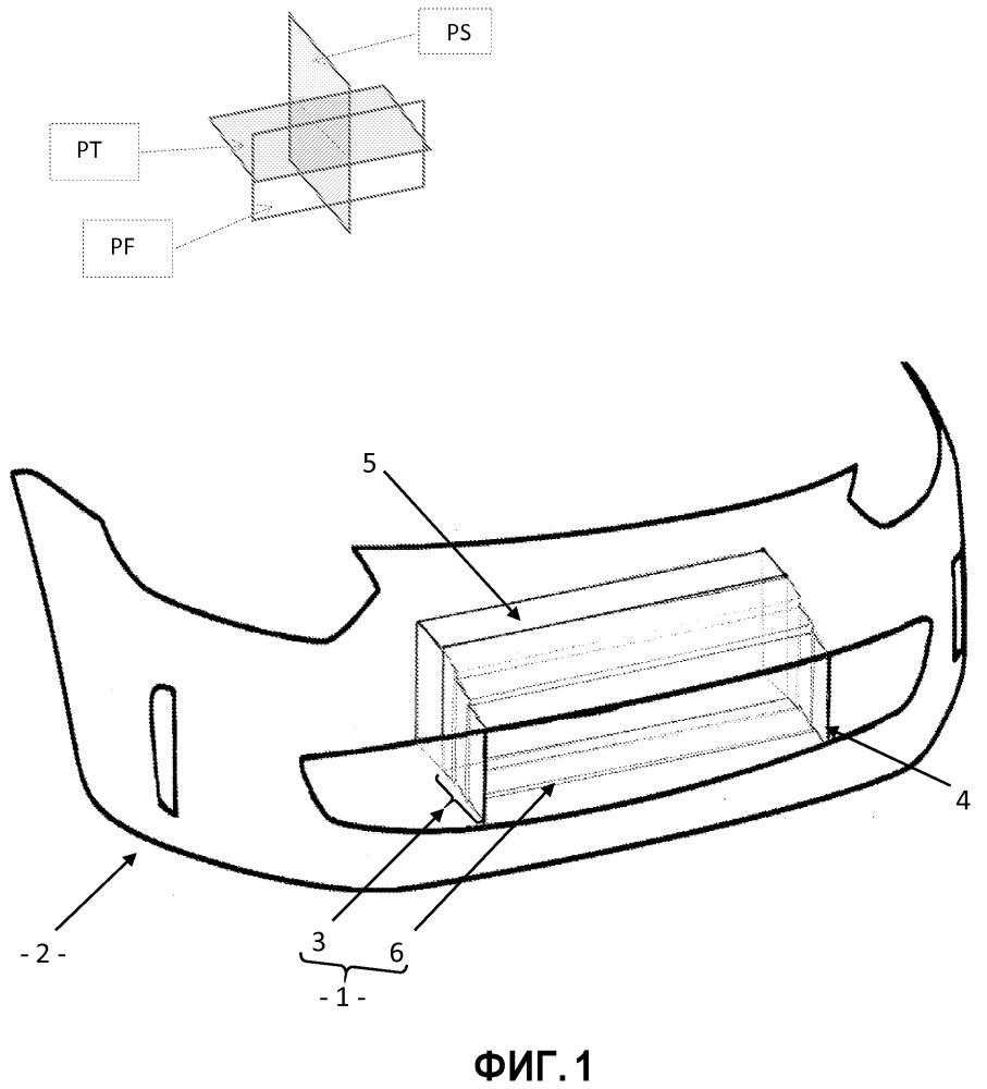 Воздуховод для передней стороны автотранспортного средства, содержащий механически слабые зоны