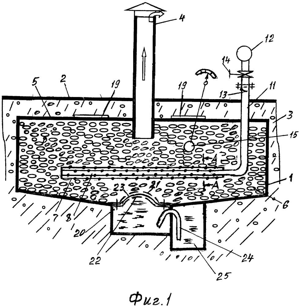 Колодец для получения воды из атмосферного воздуха
