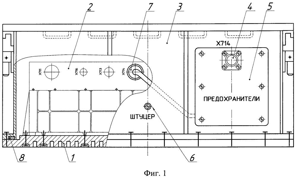 Герметичный контейнер литий-ионной аккумуляторной батареи для космического аппарата
