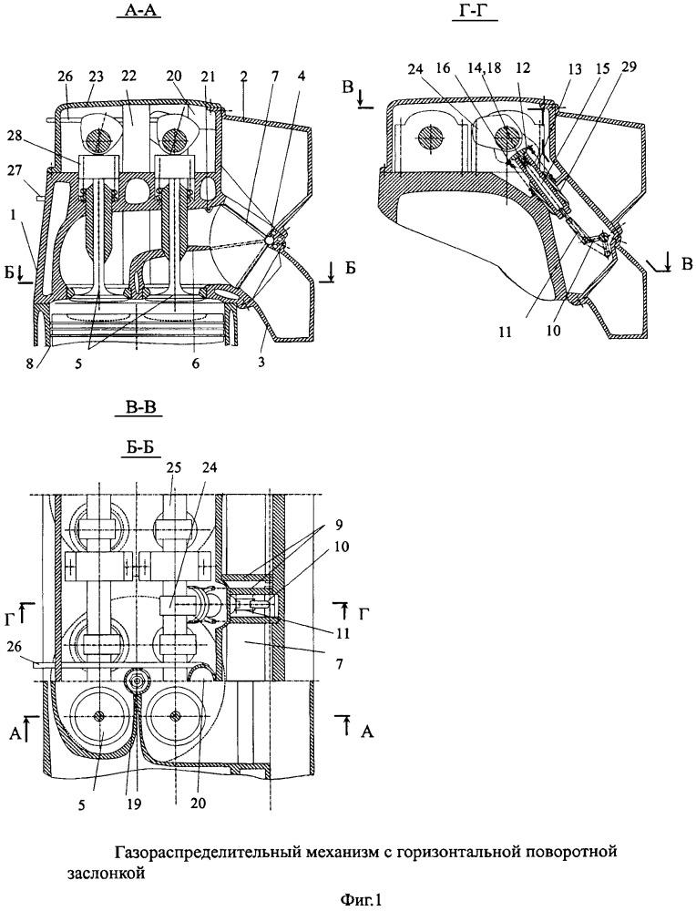 Газораспределительный механизм двигателя внутреннего сгорания