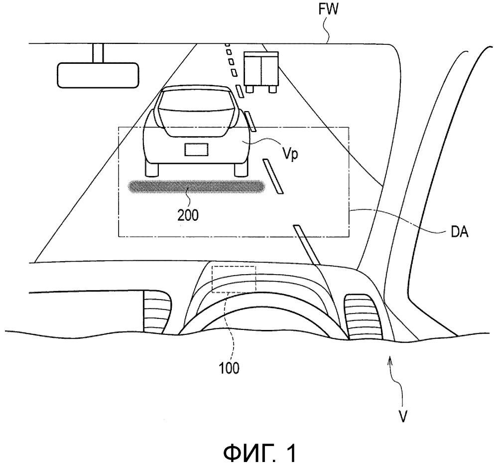 Устройство отображения транспортного средства и способ отображения для транспортного средства