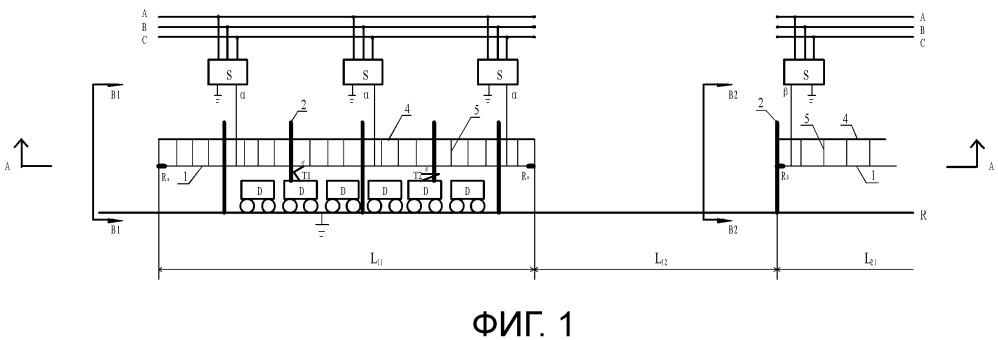 Энергосистема электрифицированной железной дороги без обратной последовательности во всем процессе и без сетей электропитания на интервалах