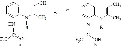 Способ получения n-(индолил)трифторацетамидов, обладающих противомикробным действием