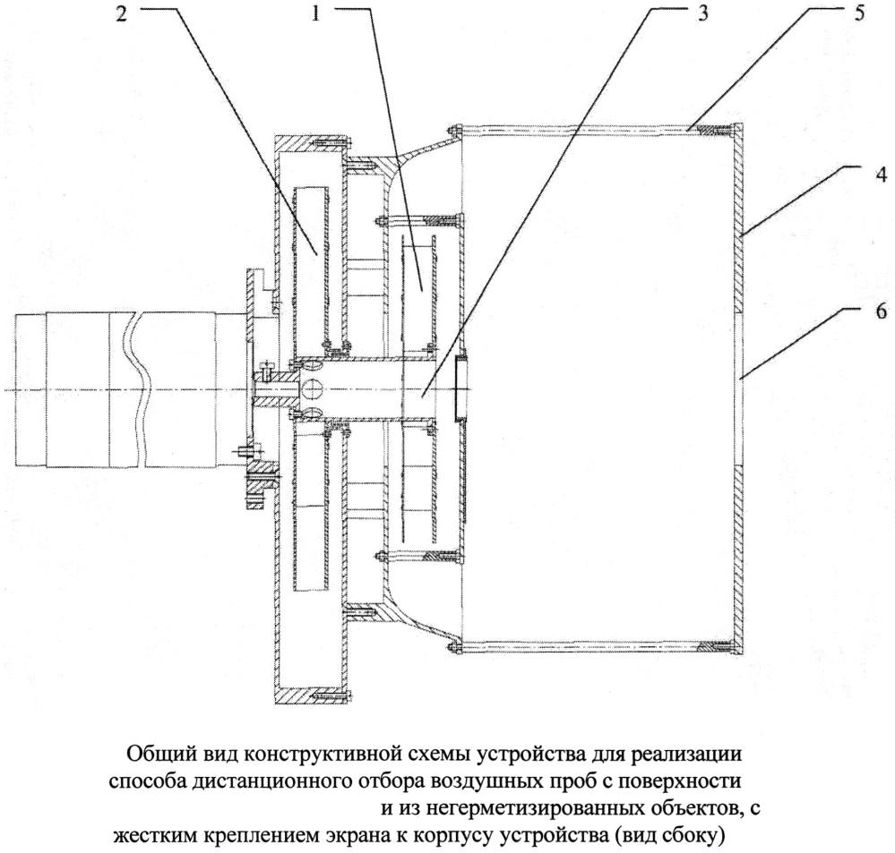 Способ дистанционного отбора воздушных проб с поверхности и из негерметизированных объектов и устройство для его реализации