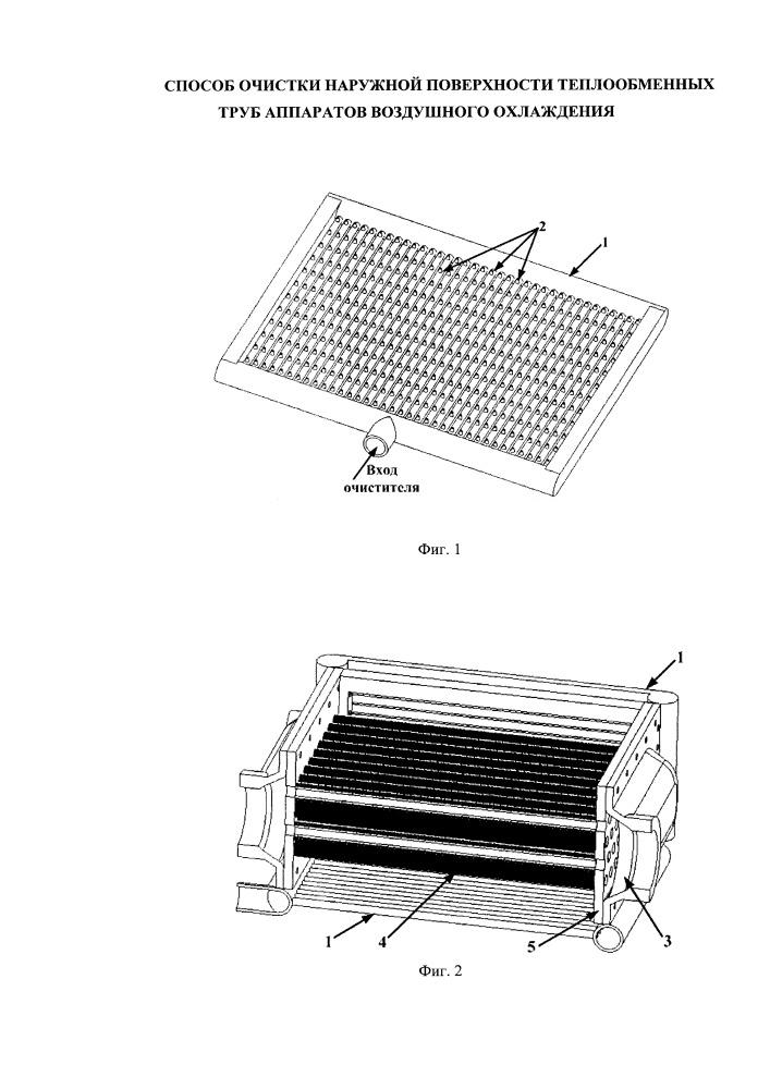 Способ очистки наружной поверхности теплообменных труб аппаратов воздушного охлаждения