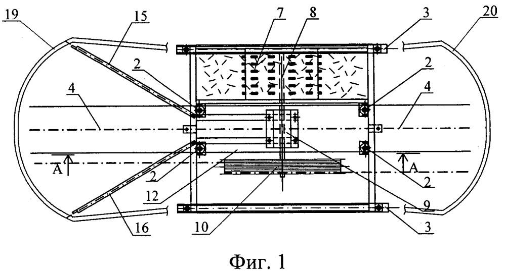 Устройство для уборки навоза из стойл и распределения подстилки