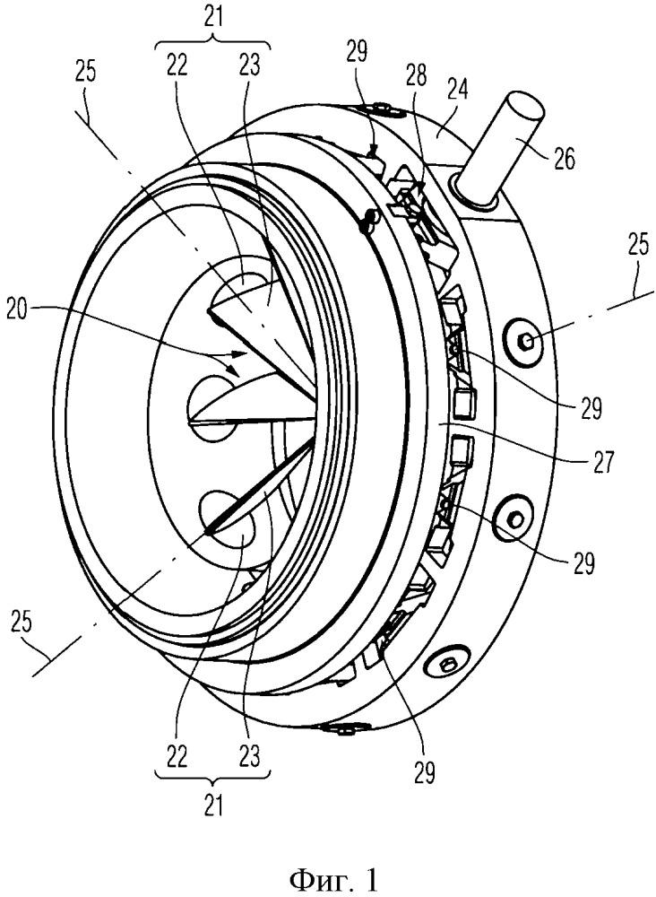 Устройство регулирования направляющих лопаток и турбомашина