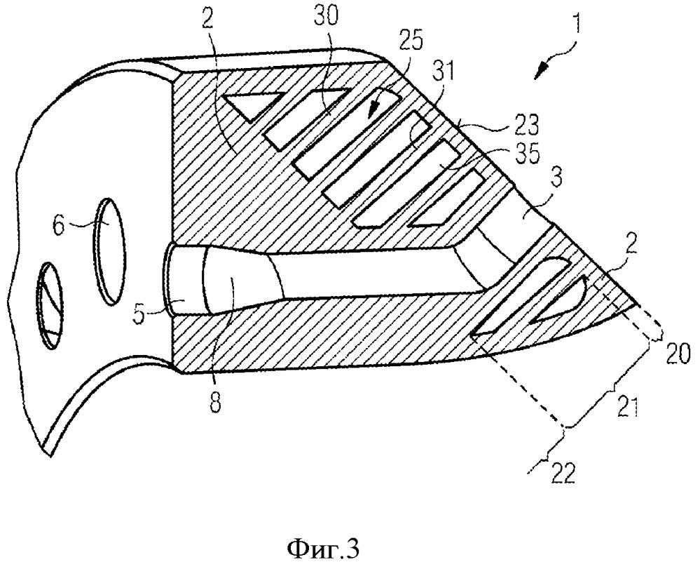 Компонент турбомашины с охлаждающими элементами и способ изготовления и эксплуатации указанного компонента турбомашины