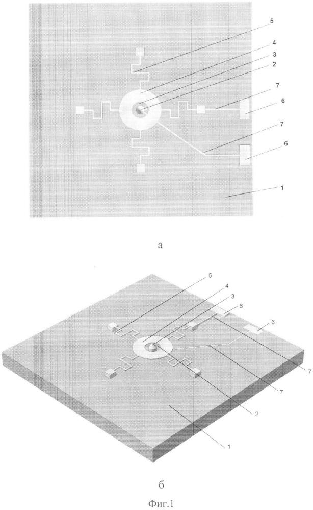 Микросистемный индикатор электрических полей космических аппаратов