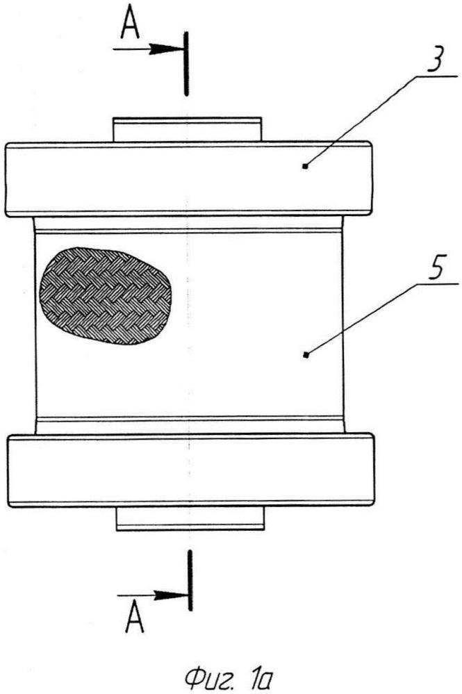 Амортизатор с упругодемпфирующим элементом и оплеткой