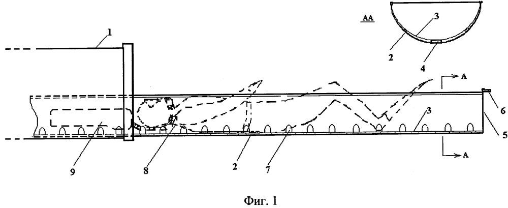 Устройство для загрузки водолазов в торпедный аппарат подводной лодки