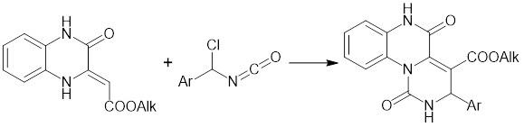 Способ получения 1,2-дигидро-3h-пиримидо[1,6-a]хиноксалин-3,5(6h)-дионов