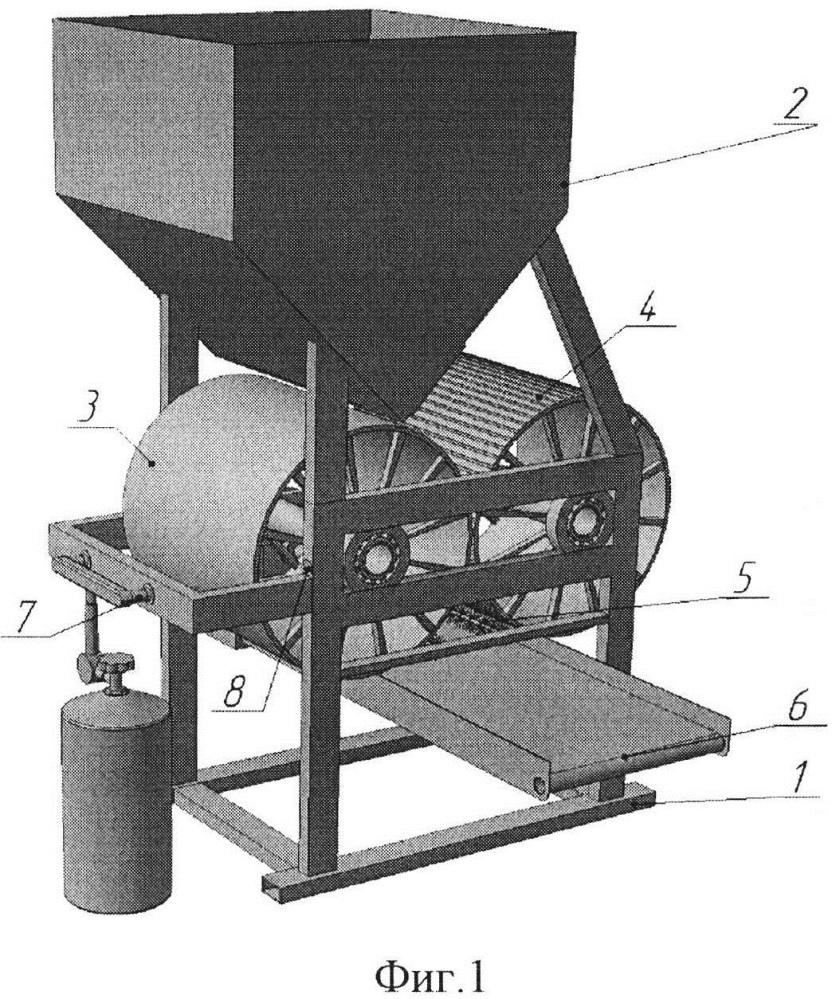 Термомеханическая плющилка для зерна
