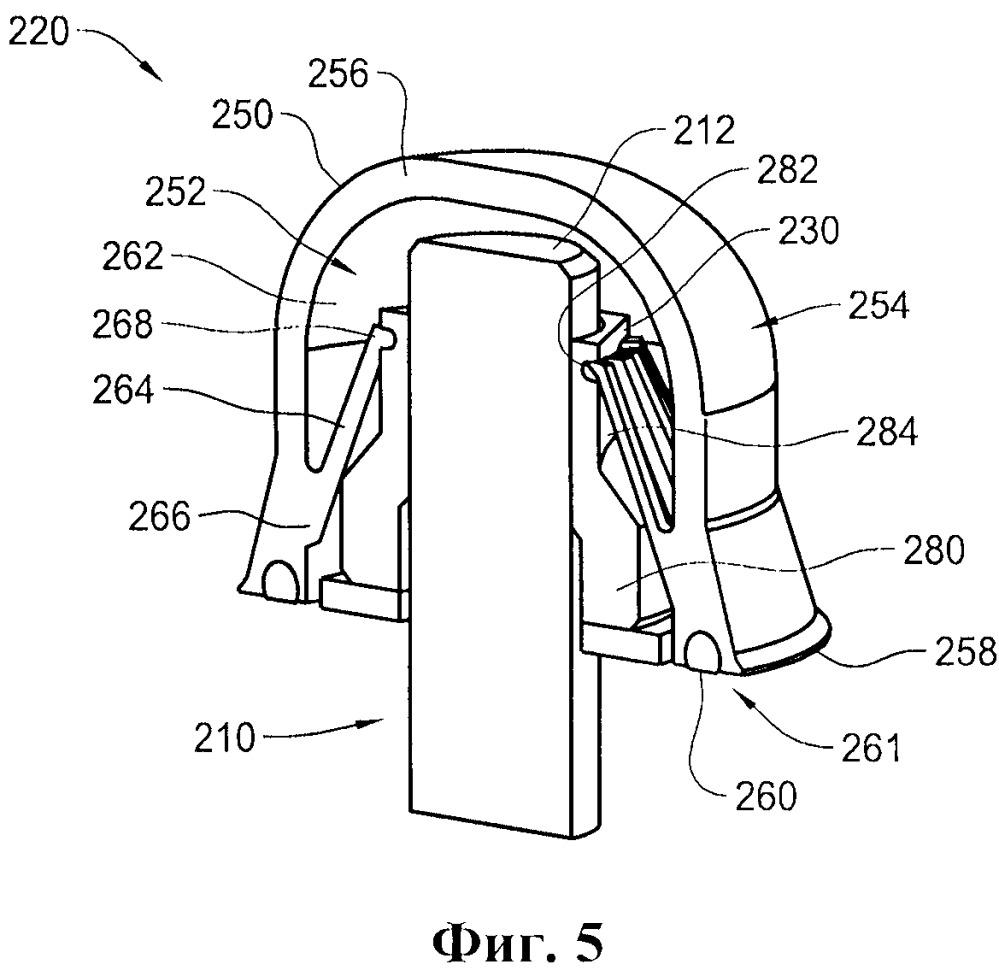 Системы и способы, используемые при закрытии части выступающего из поверхности крепежного элемента