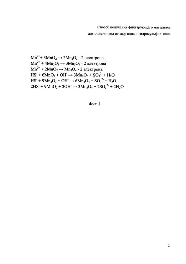 Способ получения фильтрующего материала для очистки вод от марганца и гидросульфид-иона