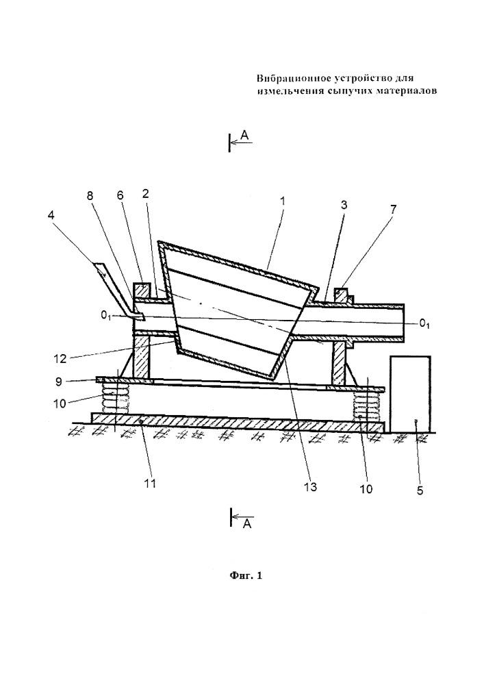 Вибрационное устройство для измельчения сыпучих материалов