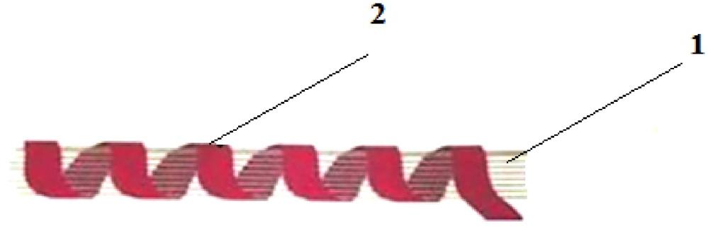 Огнестойкая текстильная нить с низким электрическим сопротивлением
