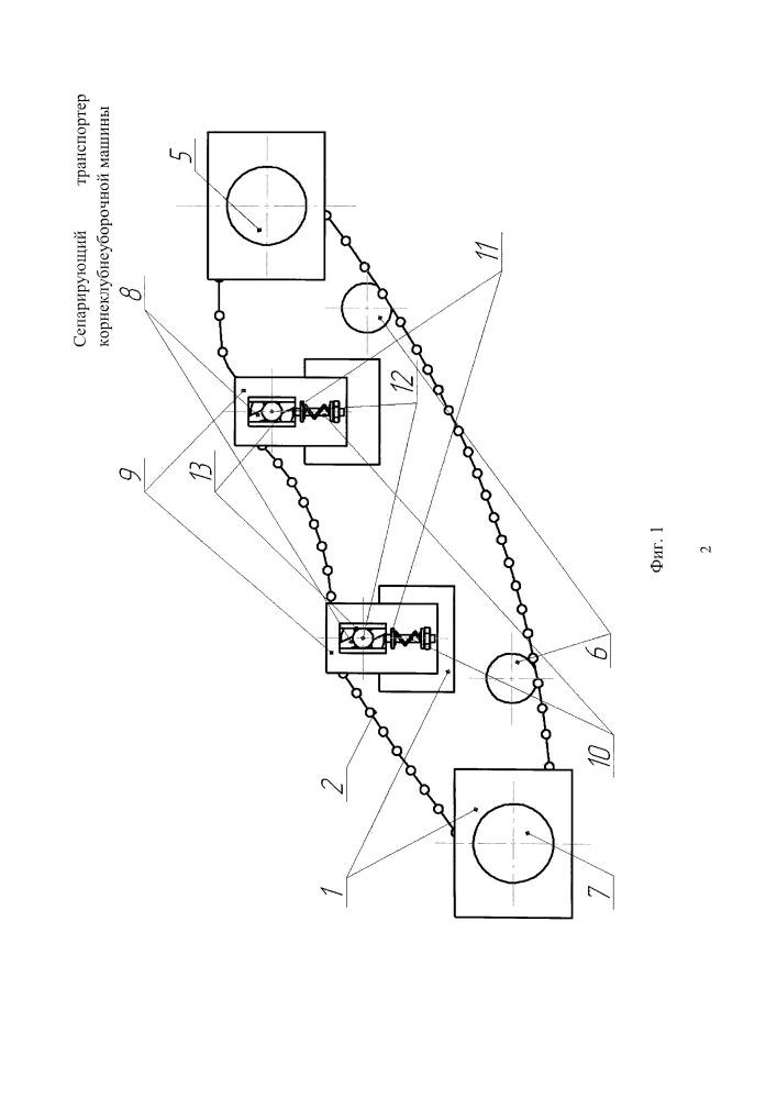 Сепарирующий транспортер корнеклубнеуборочной машины