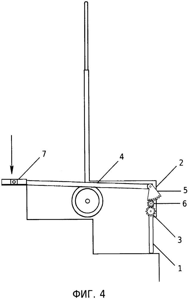 Приспособление для перемещения ручной тележки по лестничным ступеням