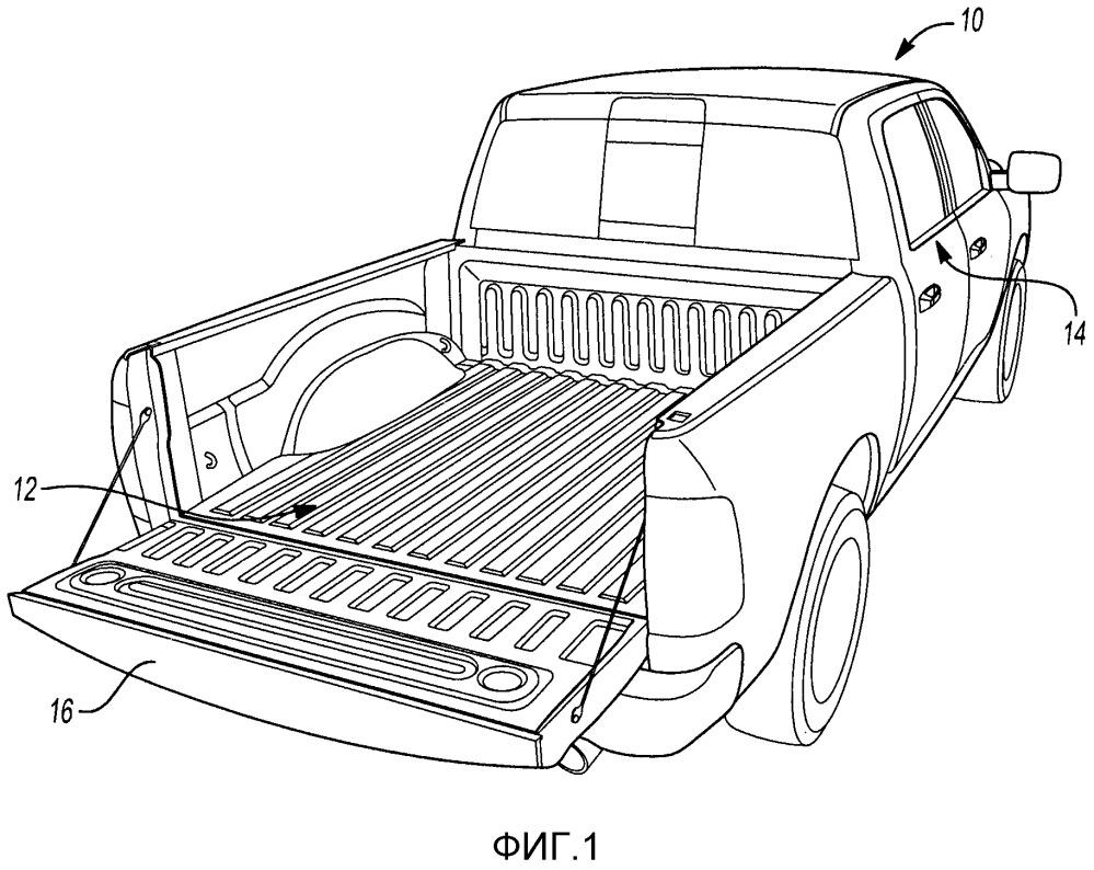 Транспортное средство, узел грузовой платформы и способ изготовления усиливающего узла для платформы грузового автомобиля