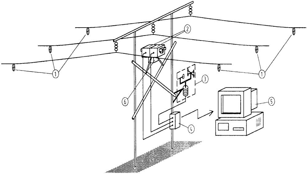 Устройство для контроля состояния воздушных линий электропередачи