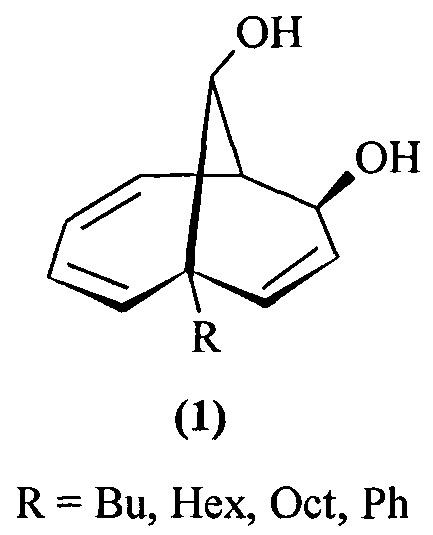Способ совместного получения 1-алкил(фенил)бицикло[4.3.1]дека-2,4,8-триен-7,10-диолов и 6-алкилбицикло[4.3.1]дека-2,4,8-триен-7,10-диолов