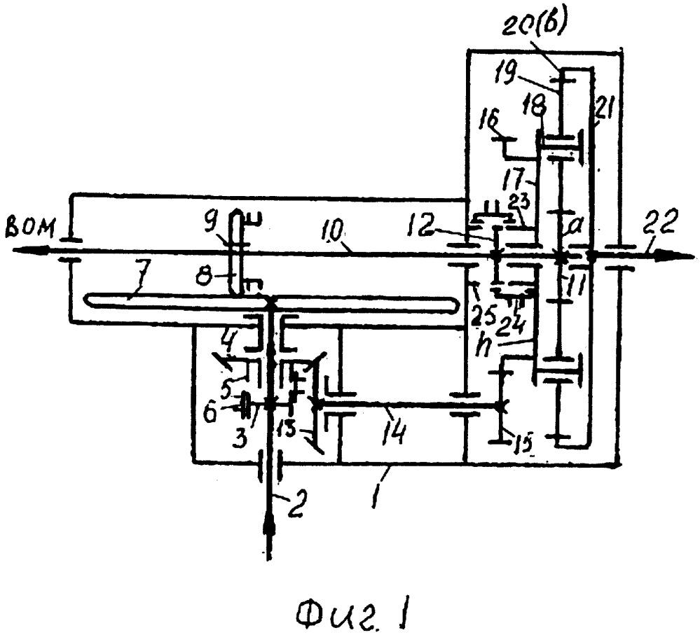 Бесступенчатая передача с планетарным механизмом a+h