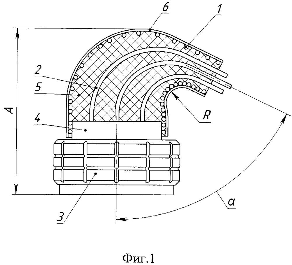 Устройство и способ концевой заделки кабеля с угловым вводом в электрический соединитель