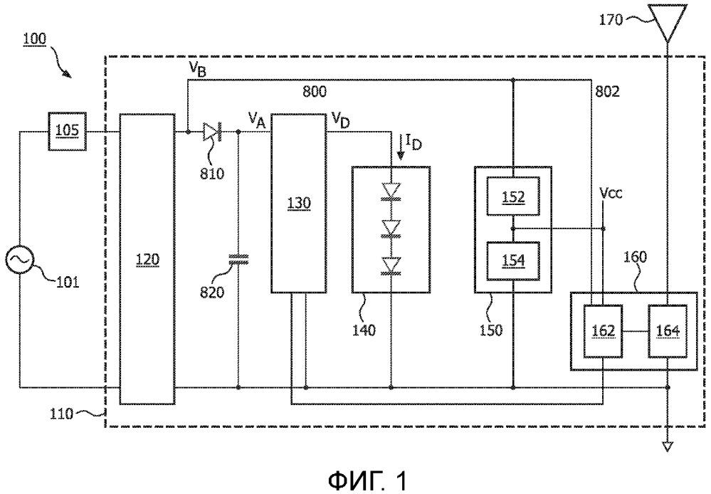 Лампа с радиочастотным (рч) управлением с совместимостью с регулятором яркости
