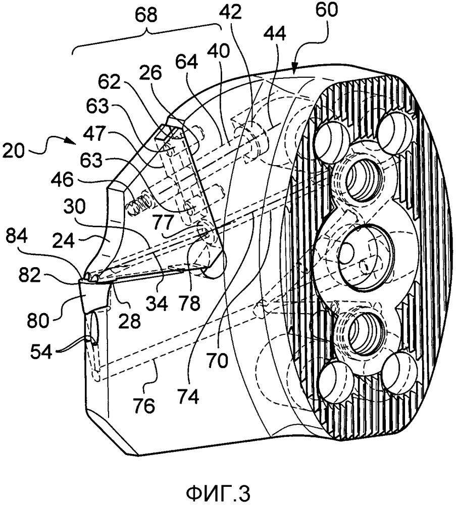 Кассета для державки инструмента для проточки канавок, соответствующая державка инструмента для проточки канавок, их комплект и узел