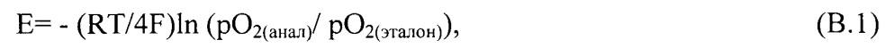 Потенциометрический датчик концентрации кислорода