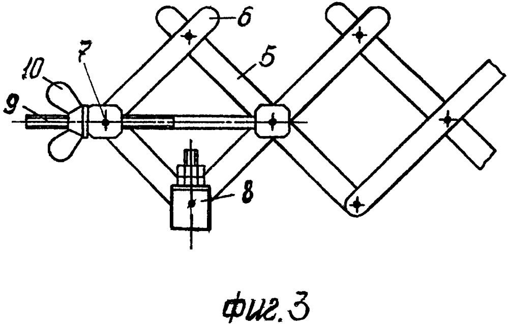 Конструкция устройства из багажных перекладин