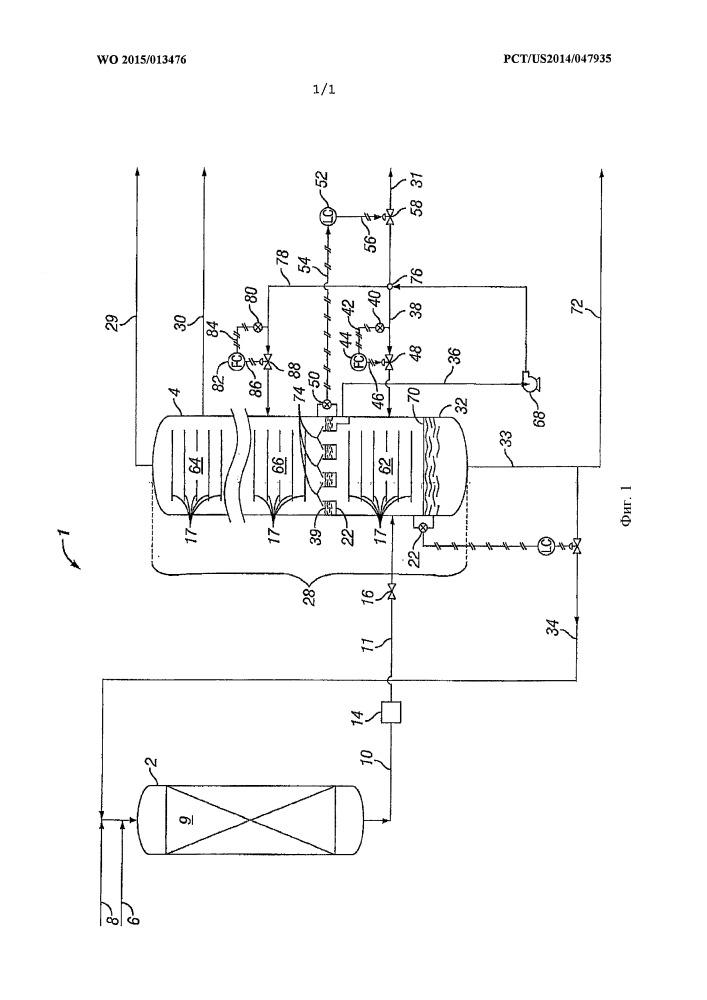 Способ и система регулирования установки гидрокрекинга и фракционирующей колонны