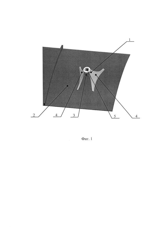 Кронштейн крепления агрегата на обечайке корпуса турбомашины
