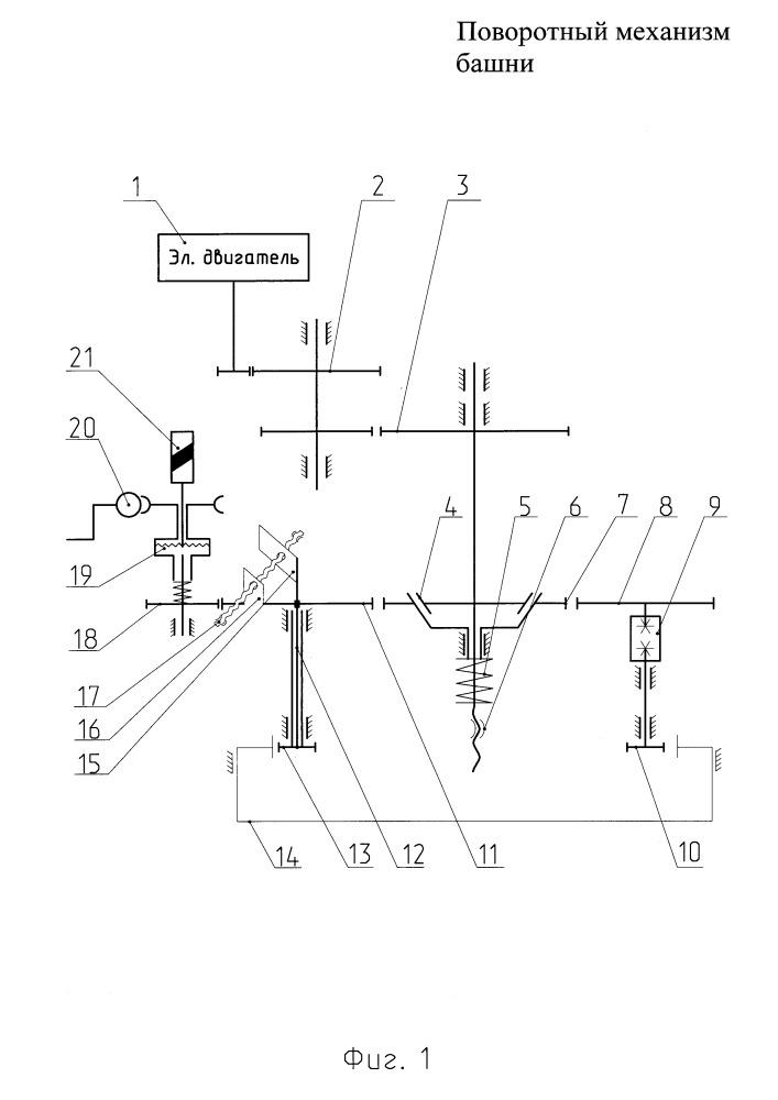 Поворотный механизм башни