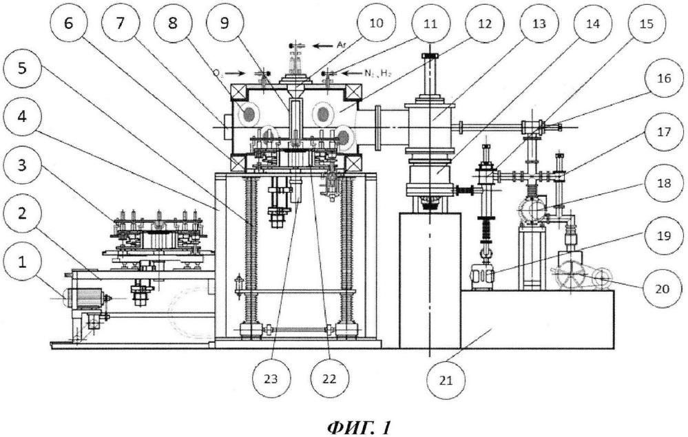 Устройство для получения композитной пленки из многоэлементного сплава