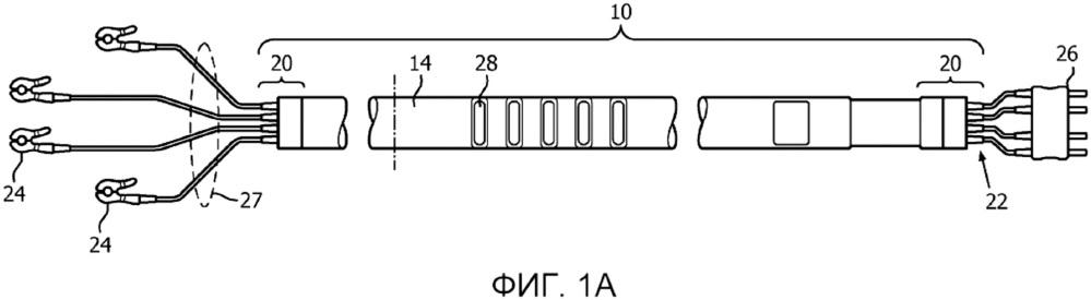 Защищённый от магнитного резонанса плоский кабель для измерений биопотенциалов