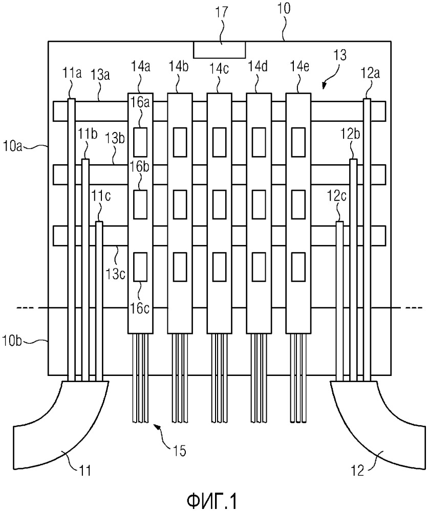 Устройство и способ для контролирования блока прерываний в электрической сети энергоснабжения, а также распределительная подстанция с контролируемым прерывательным блоком