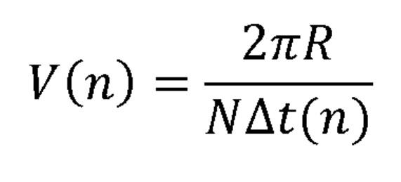 Способ вычисления скорости колеса и соответствующее устройство измерения