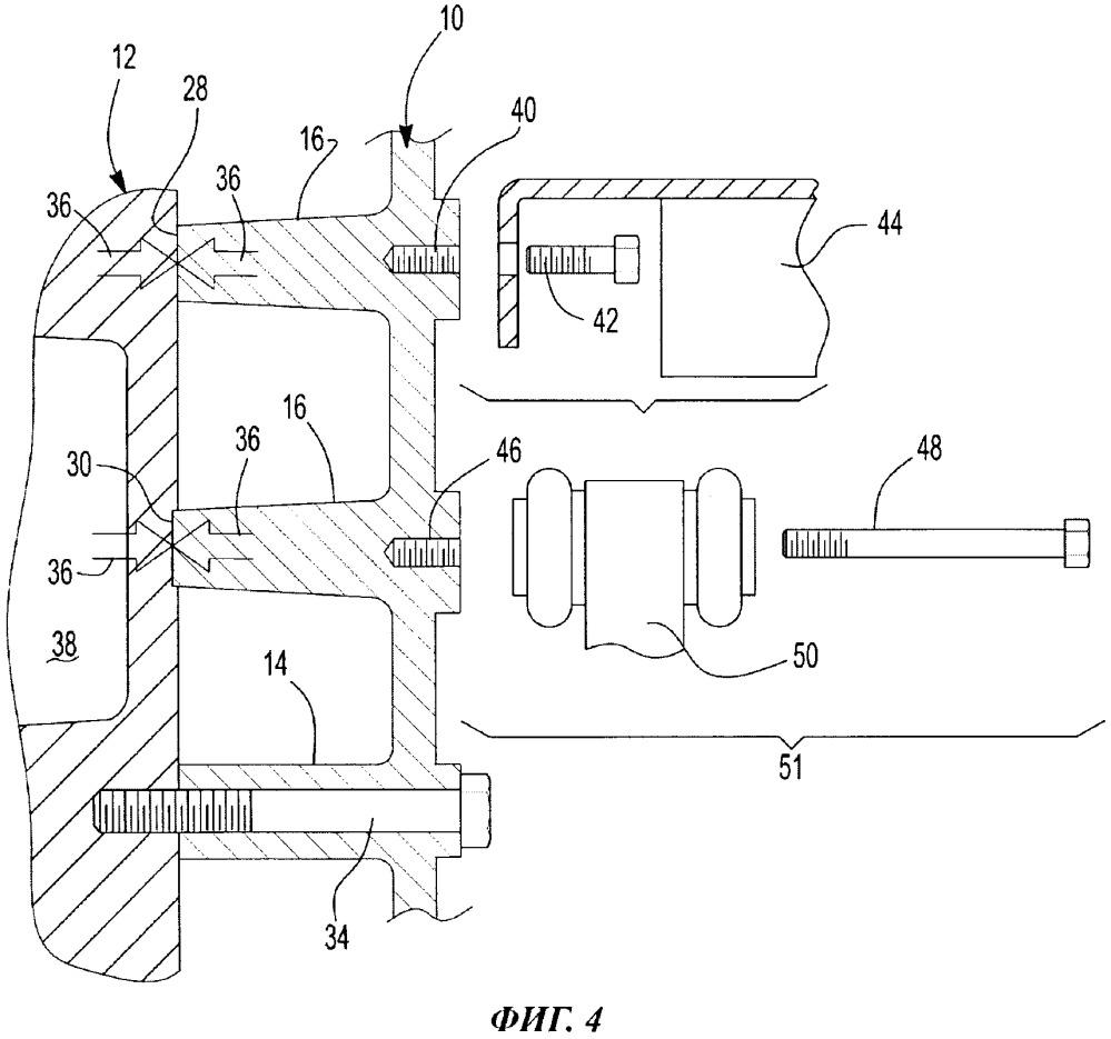 Система (варианты) и способ крепления передней крышки двигателя